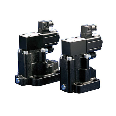 Pressure relief, two stage, subplate mounting component from Atos
